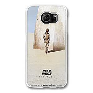 Samsung S6 Case, Galaxy S6 Case - Screatch-Resistant Crystal Clear Hard Case for Samsung Galaxy S6 Star Wars Teaser Poster Shock-Absorption Clear Hard Back Case for Samsung Galaxy S6