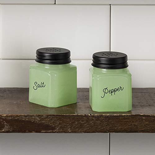 (J.C. and Rollie Mint Glass Salt and Pepper Shakers)