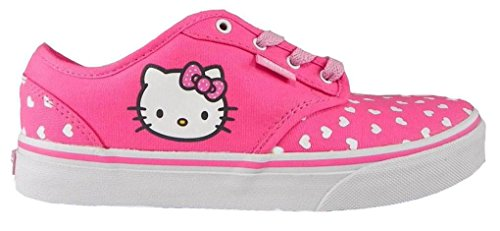 New Vans Atwood Girls Sizes Pink Hello Kitty Shoes (6.0) (Kitty Hello Shoes Vans)