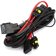 Kensun HID Conversion Kit Universal Single Beam Relay Wiring Harness - H1 H3 H7 H8 H9 H10 H11 9005 9006 5202 880 881 9140 9145