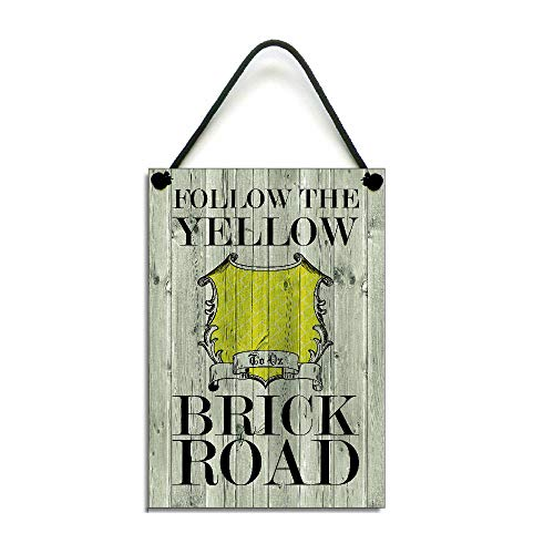 (Susie85Electra Follow The Yellow Brick Road Gift Hanging Wood Signs Rustic Wall Plaque)