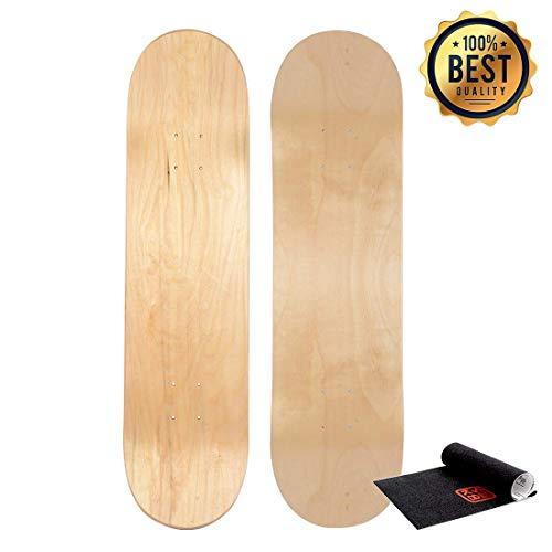 LOSENKA Maple Skateboard Decks Double Tail Skateboard Light Decks Free Skateboard Grip Tape 1 PCS