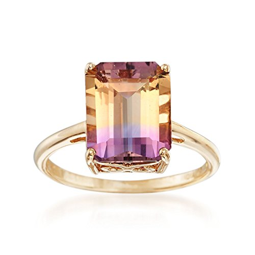 Ross-Simons 3.40 Carat Ametrine Solitaire Ring in 14kt Yellow Gold