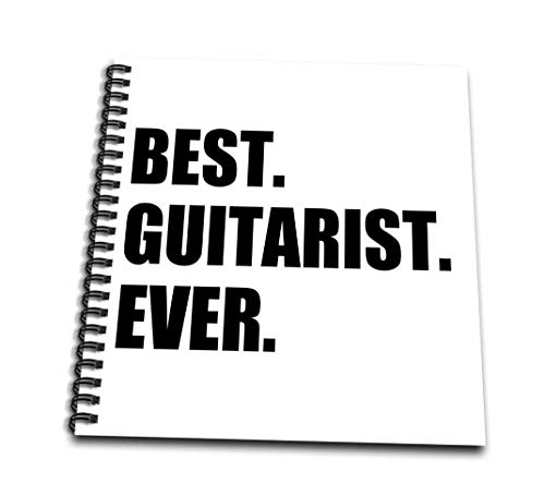 3dRose db_185003_3 Best Guitarist Ever Fun Gift for Talented Guitar Players, Black Text Mini Notepad, 4