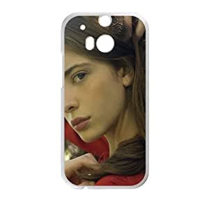 HTC One M8 Cell Phone Case White Ashlyn Pearce Beauty Model G6A8FQ