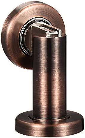 Zinc Alloy Door Magnetic Locking Bracket Stop Door Stop Brushed Hiding Screw Floor Mount Copper Tone
