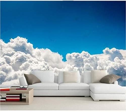 Lcymt カスタム3D壁画、青空白い雲の3 D背景の壁紙、ホテルのレストランのリビングルームのソファテレビ壁の寝室-120X100Cm