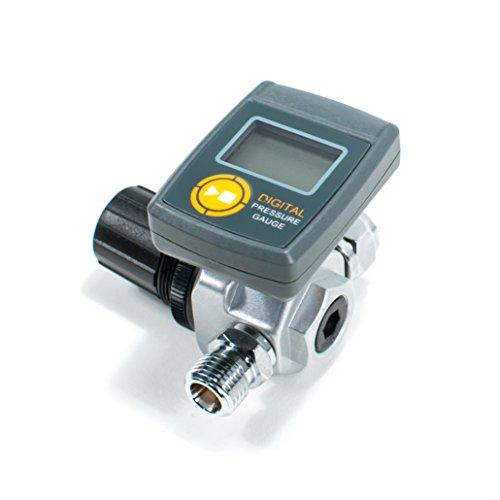 Digital HVLP Spray Gun Air Regulator with Pressure Gauge and Diaphragm Control (Adjustable Air Pressure Regulator compare prices)