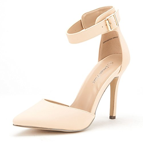 DREAM+PAIRS+OPPOINTED-ANKLE+Women%27s+Pointed+Toe+Ankle+Strap+D%27Orsay+High+Heel+Stiletto+Pumps+Shoes+NUDE+NUBUCK+Size+9.5