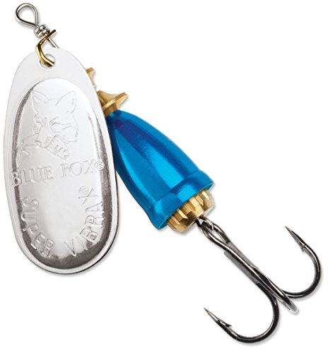 Blue Fox Classic Vibrax 06 Plated 5/8 (Silver/Chrome Blue, Size- ()