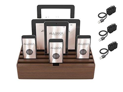 Walnut Package - ALLDOCK Large Walnut Package (3 x Apple Mfi One Hand Docking System Black)