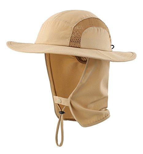 5c7d7f9ba96b4 Home Prefer Kids Safari Hat UPF 50+ Sun Protective Cap Boys Bucket Hat with  Flap