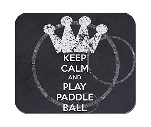 Makoroni - Keep Calm and Play Paddle Ball - Non-Slip Rubber Mousepad, Gaming Office Mousepad