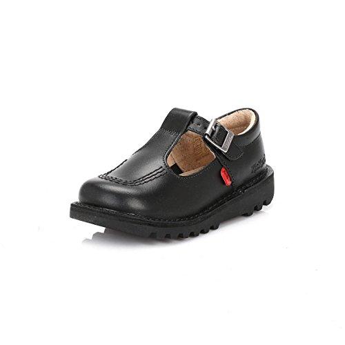 Kickers Kick T I Core Black Leather Shoes-UK 8 Infant