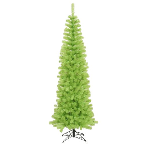 Vickerman Lime Green Pencil Christmas Tree