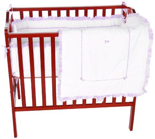Baby Doll Bedding Unique Mini Crib/Port-a-Crib Bedding Set, Lavender (Nursery Doll Center Baby)