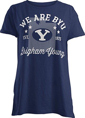 NCAA BYU Cougars Abingdon Short Sleeve T-Shirt, Medium, Navy