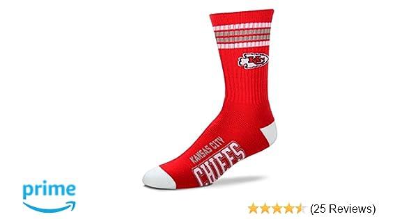 a14fc59d NFL 4 Stripe Deuce Crew Socks Mens-Kansas City Chiefs-Size Large(10-13)