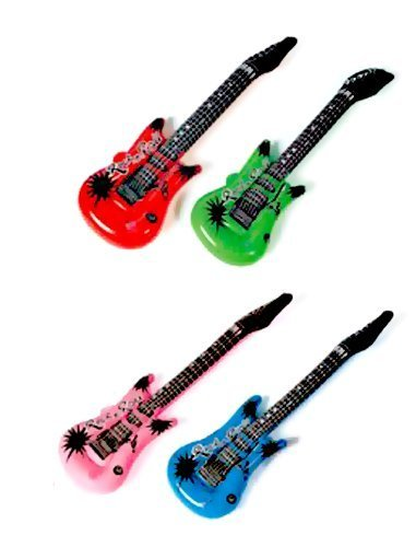 Rhode Island Novelty  Pack Of 25  Inflatable Rock Star Electric Guitar  25 Pack