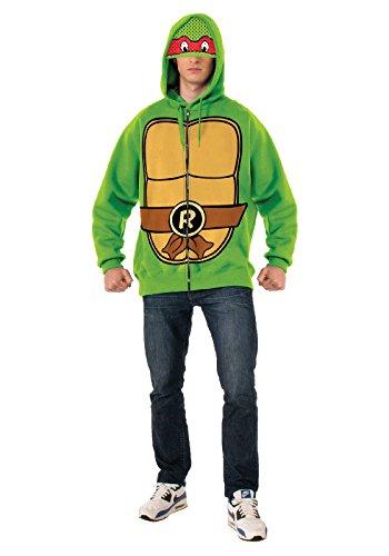 [Rubie's Costume Men's Teenage Mutant Ninja Turtles Adult Raphael Hoodie, Green, Standard] (Adult Ninja Turtle Halloween Costumes)