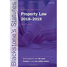 Blackstone's Statutes on Property Law 2018-2019