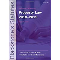 Blackstone's Statutes on Property Law 2018-2019 (Blackstone's Statute Series)