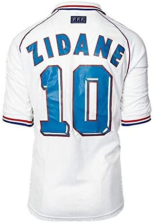 Unsigned Zinedine Zidane France 1998 Away Shirt Autograph Jersey Autographed Soccer Jerseys At Amazon S Sports Collectibles Store