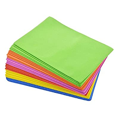 Foam Sheets for Arts and Crafting Projects (32 Sheets, 6 Assorted Colors) by Crafters Square by Crafters Square