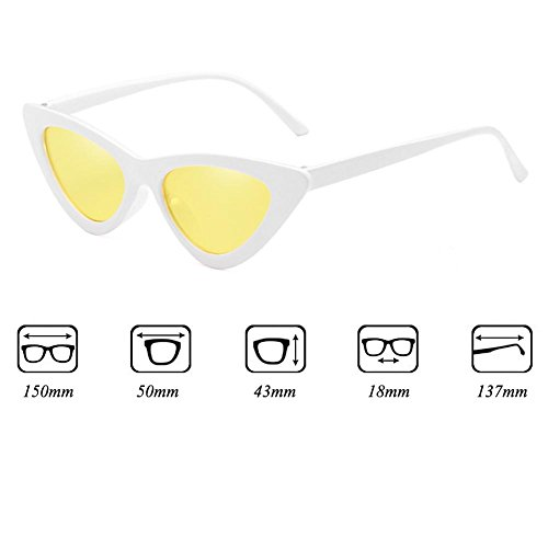 sol de New Box transparentes Gafas Eye Juleya de Gafas de sol C10 Triangle Cat sol Gafas Small gqxHwdS8q