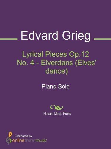 Lyrical Pieces Op.12 No. 4 - Elverdans (Elves dance) - Piano