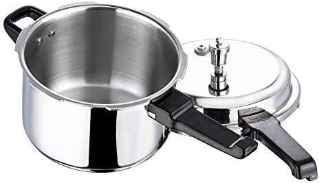 Vinod V-5L Stainless Steel Sandwich Bottom Pressure Cooker, 5-Liter,Silver,Medium