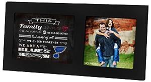 "KH Sports Fan 16""X8"" St. Louis Blues Family Cheer Black Single NHL Photo Frame"