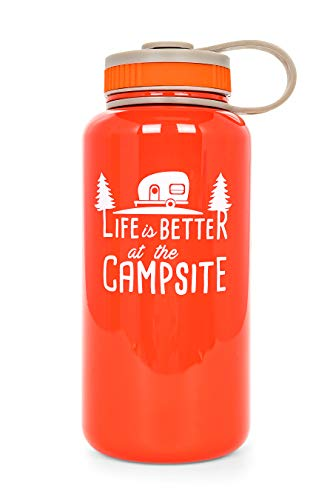 Life Is Better At The Campsite 32 oz. Reusable Water Bottle made our list of camper gifts that make perfect RV gifts which are unique gifts for RV owners