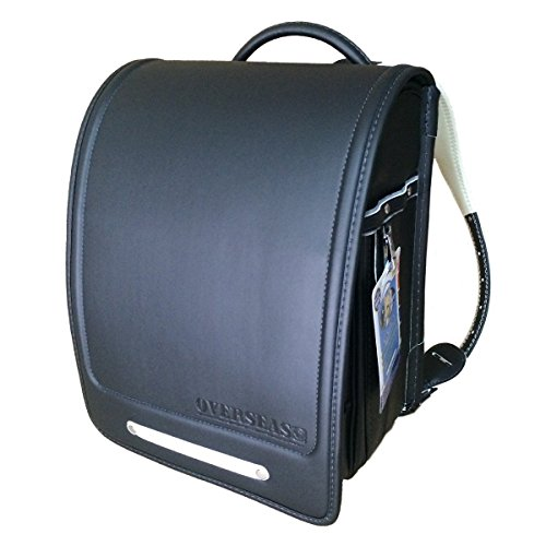 Randoseru available deep black for a4 size black schoolbag by oversea