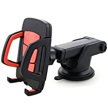 Cell Phone Car Mount Holder Stand Dashboard/Windshield, Nuaele Universal Car Phone Mount Support iPhone X 8/7/7P/6S/6 Plus/5S/5/5c/SE/4/4s, Samsung Galaxy S8, LG, HTC and other Smartphones(Red)