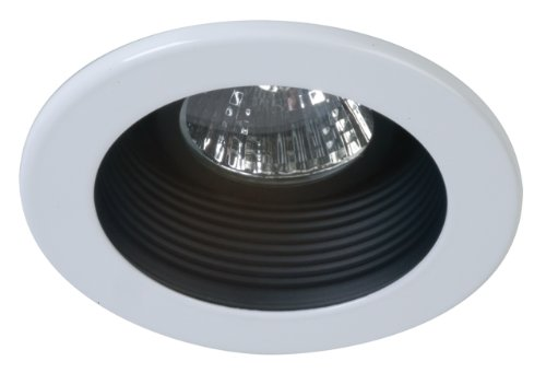 Eurofase TE01-21 3-Inch Step Baffle Trim, Black/White
