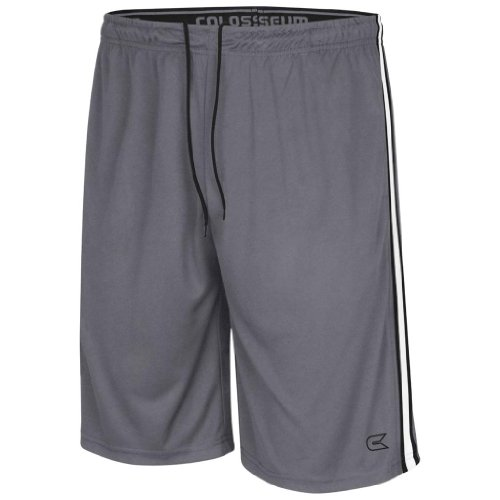 Colosseum Athletic Basketball Shorts (Grey) - M Colosseum Basketball Shorts