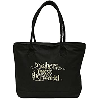 Amazon.com - Teacher Peach Math Teacher Tote Bag with Zipper ...