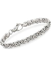 Sterling Silver Byzantine Bracelet, Includes Jewelry Presentation Box