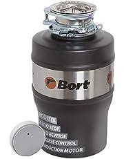 Bort Alligator Max - Triturador de basura con motor de inducción, interruptor inalámbrico, cámara de molido de acero inoxidable (1600 ml), 560 W, muy silencioso (55 dB)