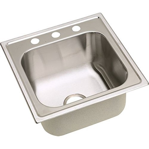 Elkay DPC12020102 20 Gauge Stainless Steel Single Bowl Top Mount Laundry/Utility Sink, 20 x 20 x 10.1563 by Elkay by Elkay