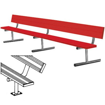 7.5' Surface Mount Bench - 6