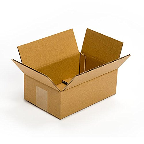 Pratt PRA0023 100PK 100% Recycled Corrugated Cardboard Box, 9
