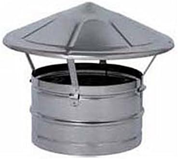 Canal de humo mono pared sombrero chino D 200 Lam galvanizada