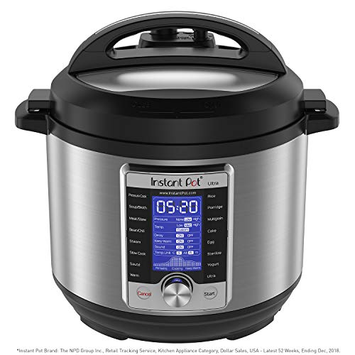 Instant Pot Ultra 10-in-1 Electric Pressure Cooker, Slow Cooker, Rice Cooker, Steamer, Saute, Yogurt Maker, Cake Maker, Egg Cooker, Sterilizer, and Warmer, 6 Quart, 16 One-Touch Programs
