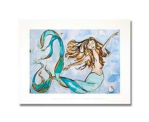 Kapan with ArtDivas (Large 12x16 Matted Mermaid Print): Posters