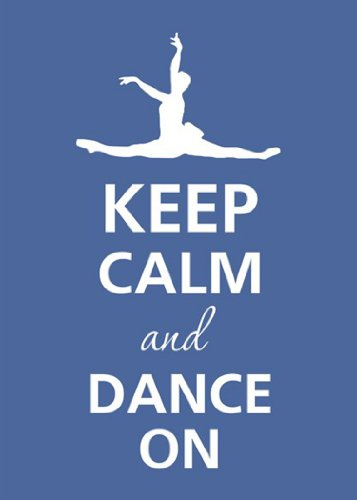 Rectangle Refrigerator Magnet - Keep Calm and Dance On Female Ballerina Ballet Jumping (Dance Magnet)
