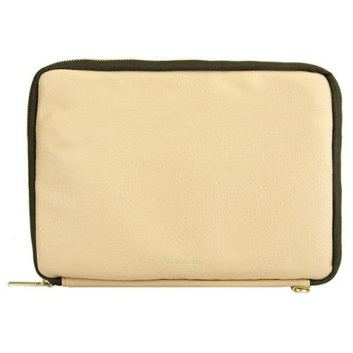 "VanGoddy Irista ECO Leather Sleeve for Chromo / Chuwi / Tagital / Prontotec 7 to 8"" Tablets (Tan & Olive Green)"