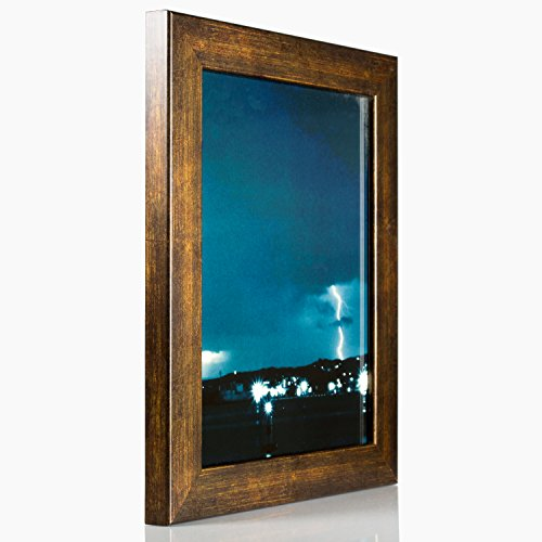 Copper Photo Frame (Craig Frames Bauhaus, Modern Aged Copper Picture Frame, 11 by 14-Inch)