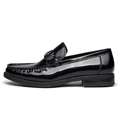 Oxford Men's In Loafer Zro Nera Toe on Classic Business Pelle Moc Slip axxZwfqv